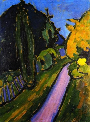 Ascending Path into the Evening | Alexei Jawlensky | oil painting