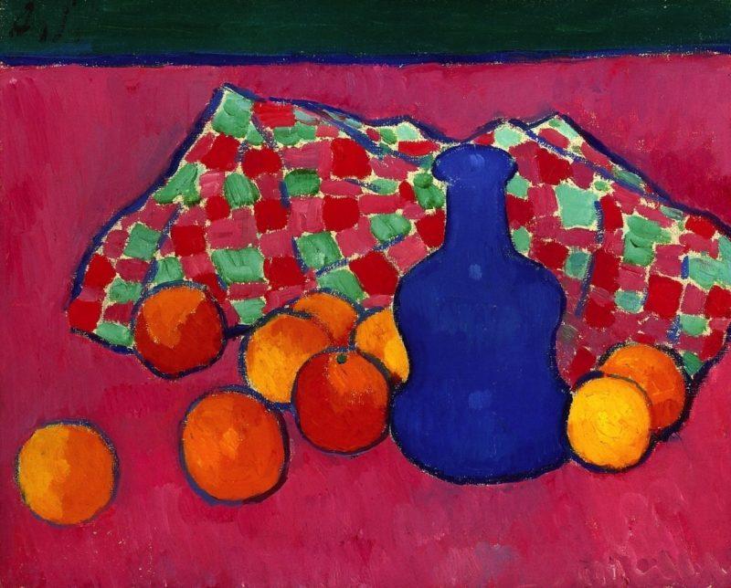 Blue Vase with Oranges   Alexei Jawlensky   oil painting