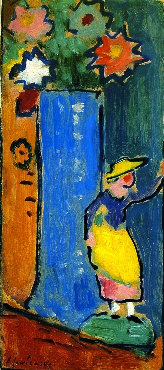 Blue Vase with Small Biedermeier Figure | Alexei Jawlensky | oil painting