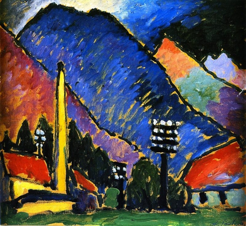 Factory in the Mountains | Alexei Jawlensky | oil painting