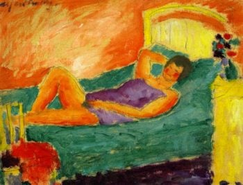 Girl Reclining | Alexei Jawlensky | oil painting