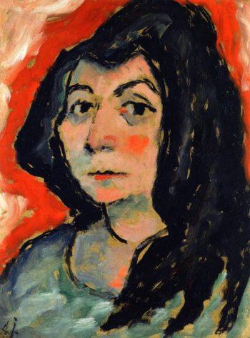 Helene with Her Hair down   Alexei Jawlensky   oil painting
