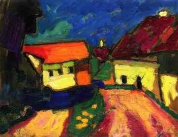 Landscape Study Dorfstrasse | Alexei Jawlensky | oil painting