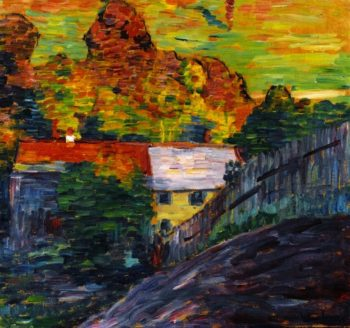 Landscape with Red Roof Wasserburg | Alexei Jawlensky | oil painting