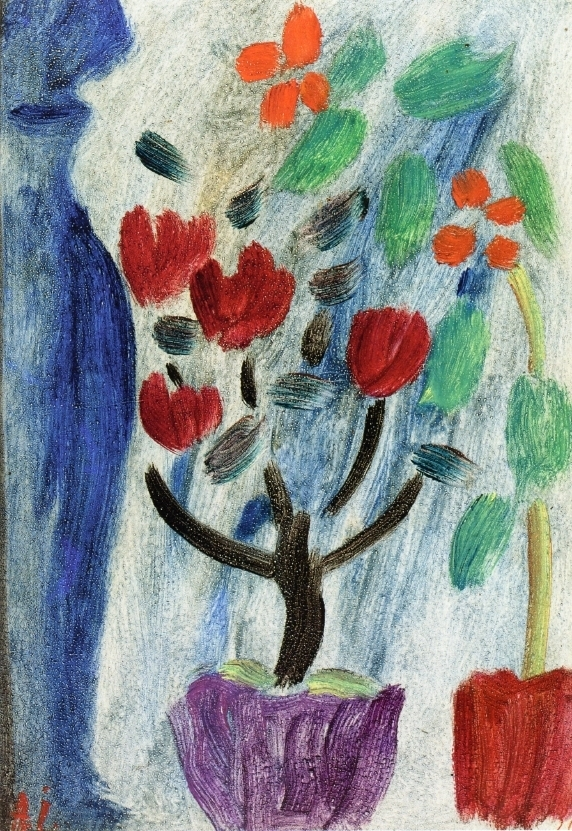 Large Still Life Flowers | Alexei Jawlensky | oil painting