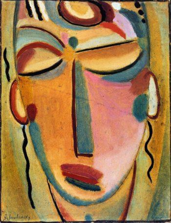 Mystical Head Meditation | Alexei Jawlensky | oil painting