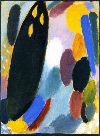 Variation Black Tree | Alexei Jawlensky | oil painting