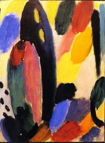 Variation in Gold Blue | Alexei Jawlensky | oil painting