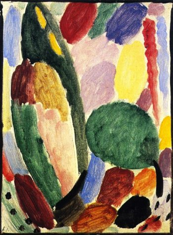 Variation When the Lark is Singing | Alexei Jawlensky | oil painting