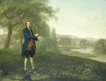 Portrait of a Gentleman Netting Partridges
