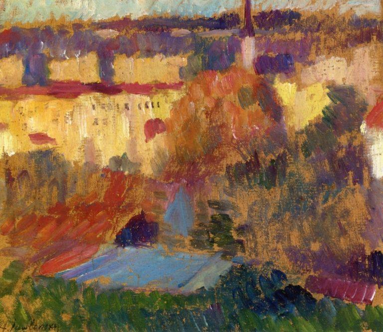 Wasserburg am Inn   Alexei Jawlensky   oil painting