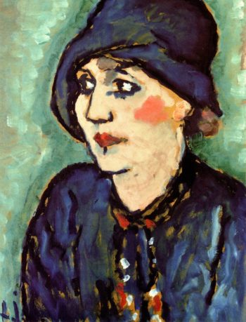 Woman in a Blue Hat | Alexei Jawlensky | oil painting