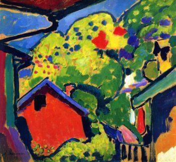 Landscape in Murnau   Alexei Jawlensky   oil painting