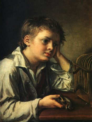 Boy with a Dead Goldfinch | Vasily Tropinin | oil painting