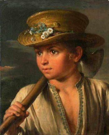 Boy With A Hatchet | Vasily Tropinin | oil painting