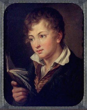 Boy with book | Vasily Tropinin | oil painting