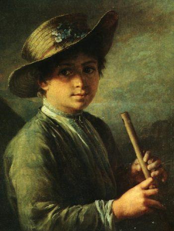 Boy with Fife | Vasily Tropinin | oil painting