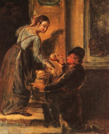 Buying apples Study | Vasily Tropinin | oil painting