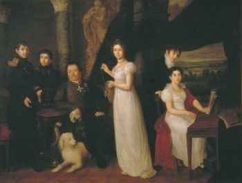 Count Morkov and His Family | Vasily Tropinin | oil painting