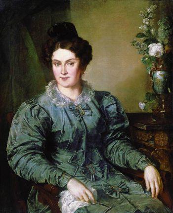E V Meshkova nee Bilibina | Vasily Tropinin | oil painting