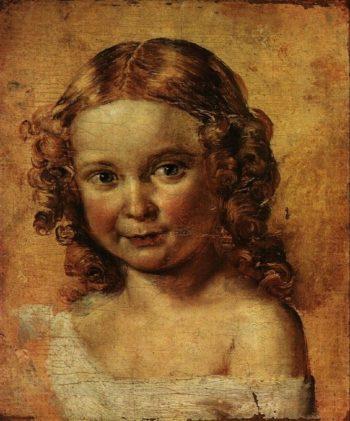 Head Of A Girl | Vasily Tropinin | oil painting