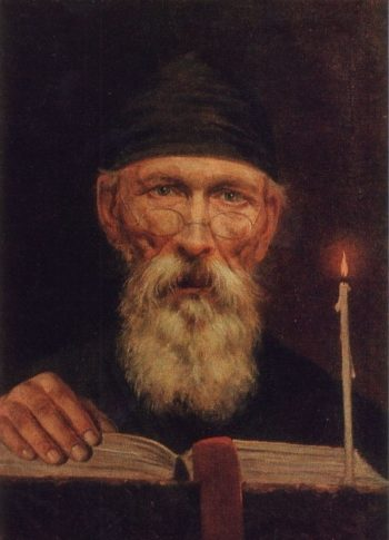 Monk with candle | Vasily Tropinin | oil painting