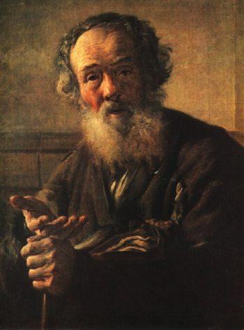 Old beggar | Vasily Tropinin | oil painting