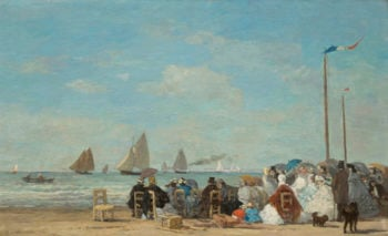 Beach Scene at Trouville