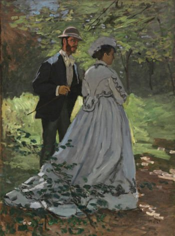 "Bazille and Camille (Study for ""D?jeuner sur l'Herbe"")"