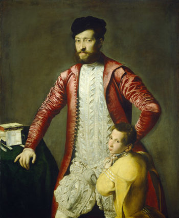 Alessandro Alberti with a Page