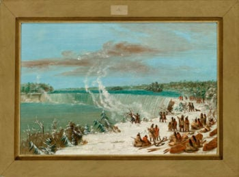 Portage Around the Falls of Niagara at Table Rock