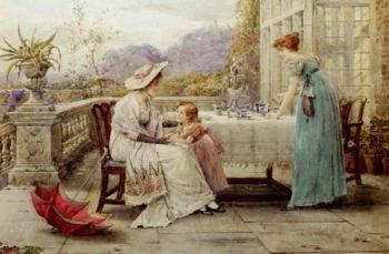 Afternoon Tea | George Goodwin Kilburne | oil painting