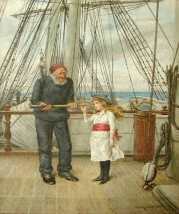 A View from the Ship's Bridge | George Goodwin Kilburne | oil painting