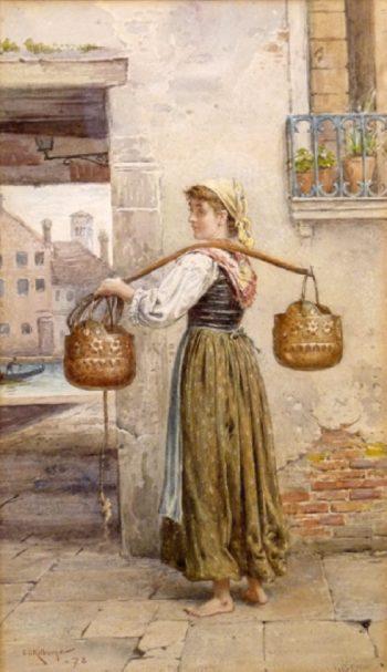 A Venetian Maid | George Goodwin Kilburne | oil painting