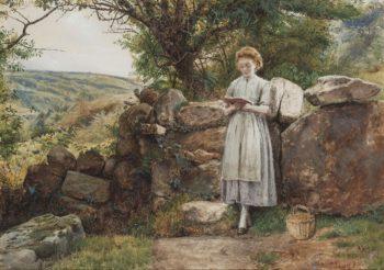 A Peaceful Read | George Goodwin Kilburne | oil painting