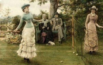 A Game of Tennis | George Goodwin Kilburne | oil painting