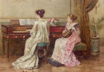 A Duet | George Goodwin Kilburne | oil painting