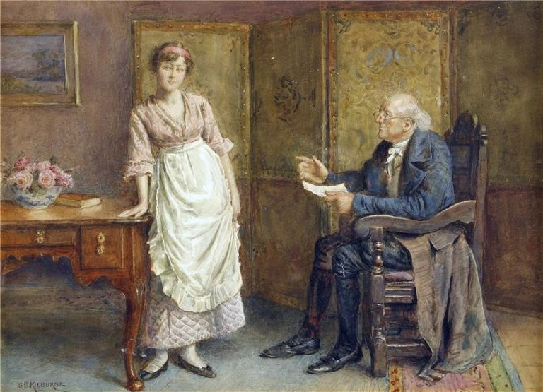 A domestic reprimand | George Goodwin Kilburne | oil painting