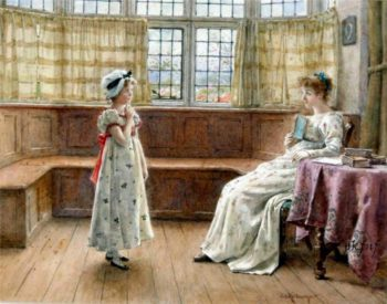 A Difficult Question | George Goodwin Kilburne | oil painting