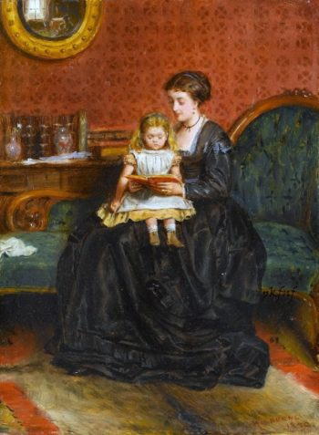 A Captivating Story | George Goodwin Kilburne | oil painting