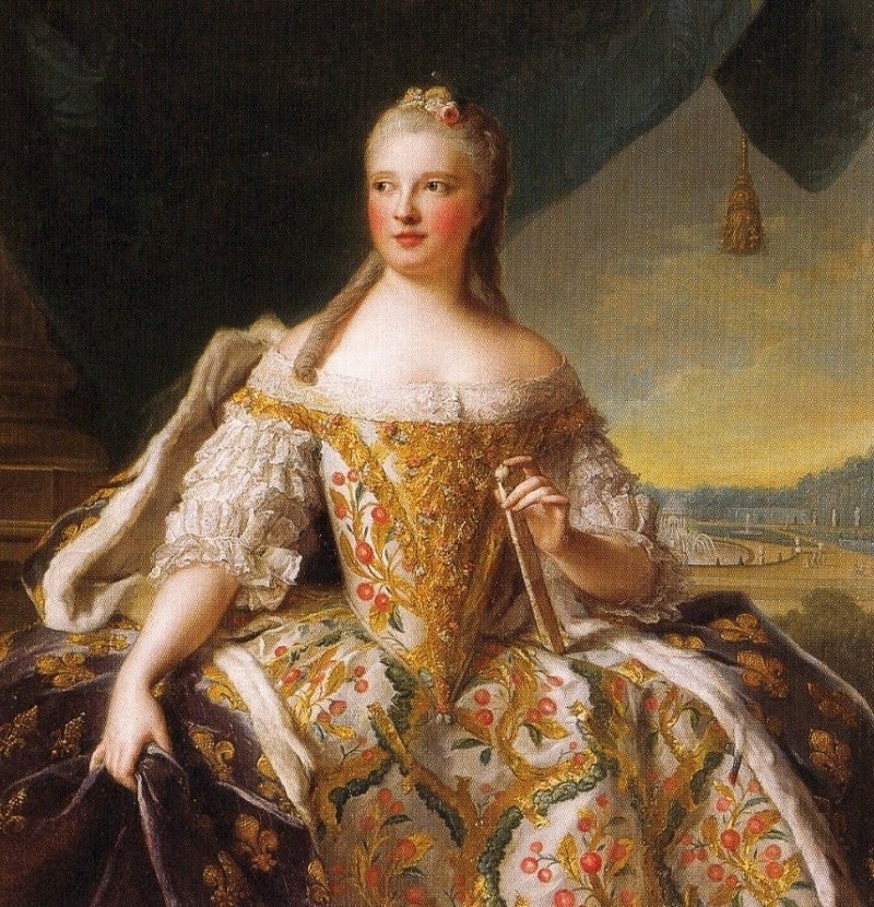 Dauphine Marie Josephe de Saxe | Jean Marc Nattier | oil painting