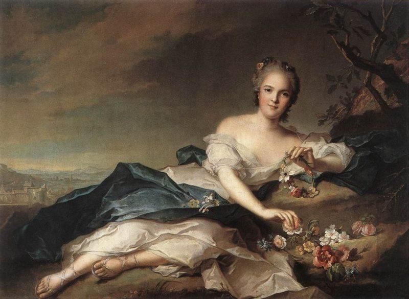Henriette of France as Flora | Jean Marc Nattier | oil painting
