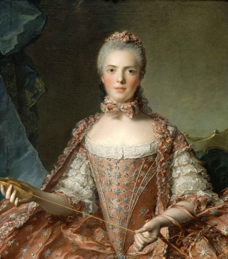 Madame Adelaide de France Tying Knots   Jean Marc Nattier   oil painting
