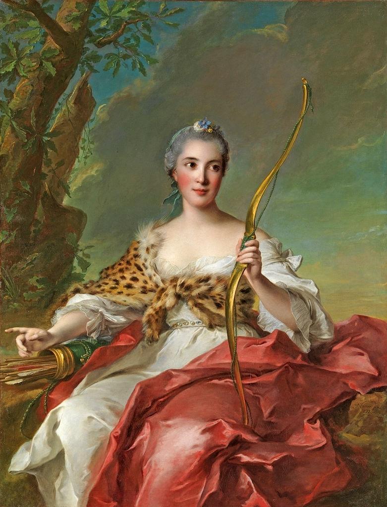 Madame de Maison Rouge as Diana | Jean Marc Nattier | oil painting