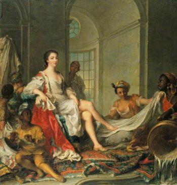 Mademoiselle de Clermont en Sultane | Jean Marc Nattier | oil painting