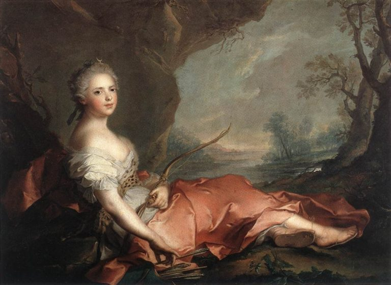 Marie Adelaide of France as Diana | Jean Marc Nattier | oil painting