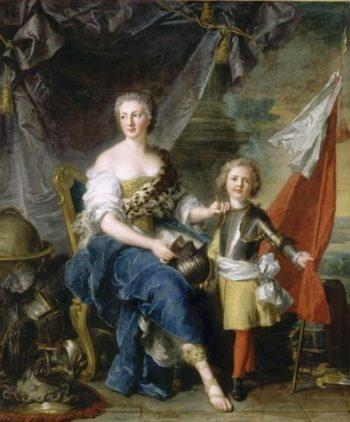 Portrait of Jeanne Louise de Lorraine Mademoiselle de Lambesc and her brother Louis de Lorraine | Jean Marc Nattier | oil painting