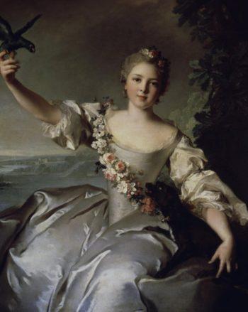 Portrait of Mathilde de Canisy Marquise d'Antin | Jean Marc Nattier | oil painting
