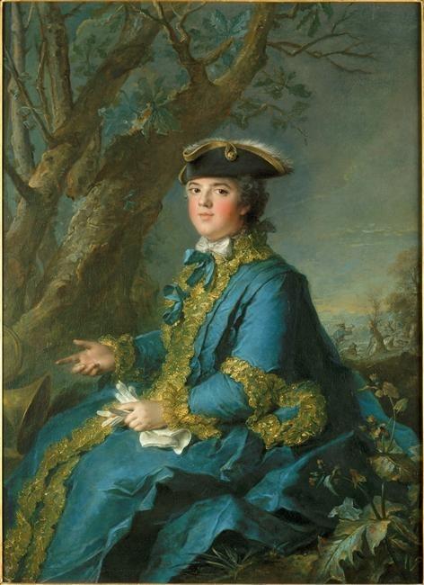 Posthumous portrait of Louise Elisabeth de France Duchess of Parma | Jean Marc Nattier | oil painting