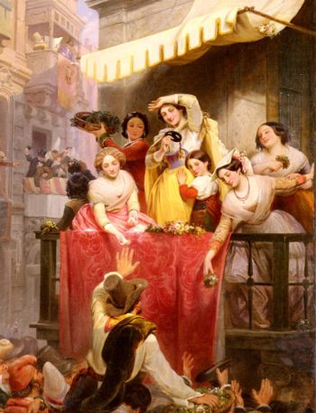 Carnival in Rome   Wilhelm Wider   oil painting